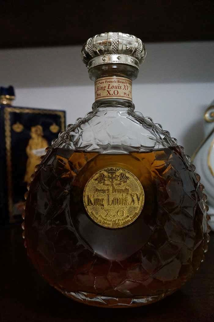 Empty Wine Bottles Collection King Louis Xv X O With