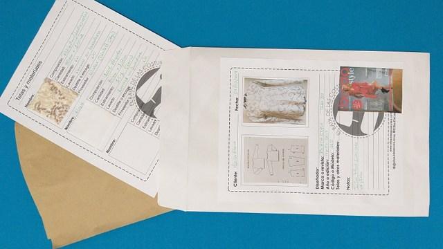 Moldes de costura ordenados y clasificados