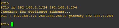 konfigurasi ip pc1