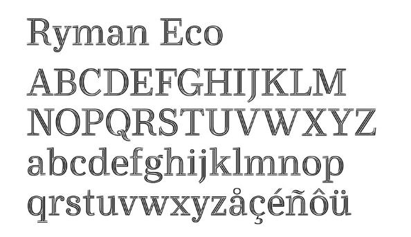 خط-Ryman-Eco