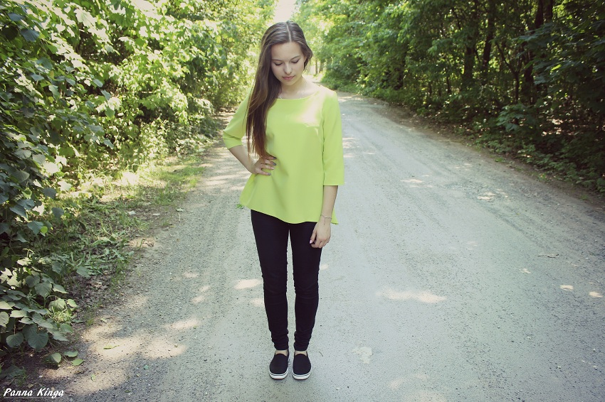 ☼ Limonkowy look.