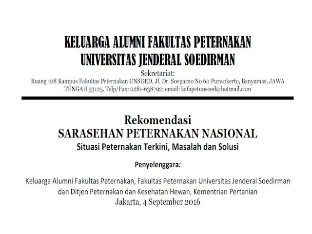 Download File Rekomendasi Sarasehan Peternakan Nasional