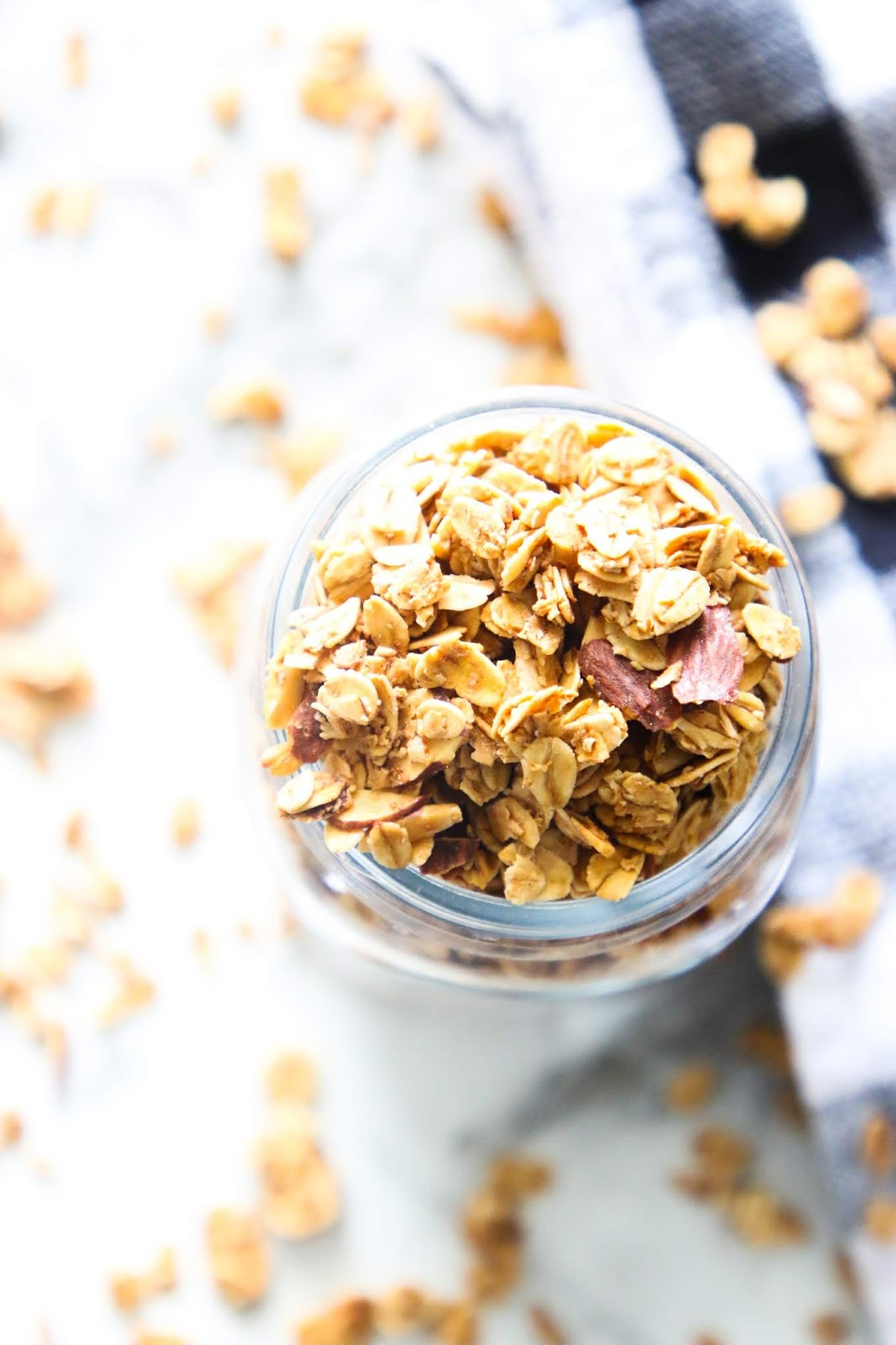 Easy granola recipe for yogurt. Chunky granola recipe. Crunchy granola recipe. Homemade granola clusters. Easy pantry recipes. Easy breakfast recipes. Best homemade granola recipe. Food storage recipes. Pandemic recipes. Easy shelf stable recipes. Simple breakfast ideas. How to use granola. #granola #breakfast #foodstorage #pantry #recipes #oats #oatmealrecipes