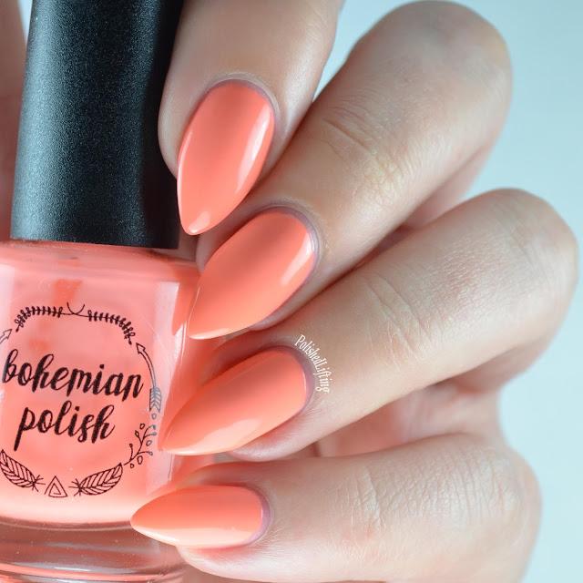 orange neon nail polish