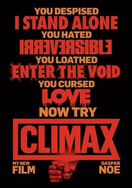 Gaspar Noé's CLIMAX poster