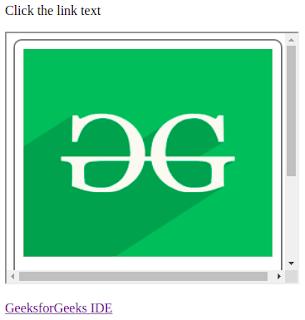 iframe html pada gambar untuk menuju ke alamat link pada laman web lain