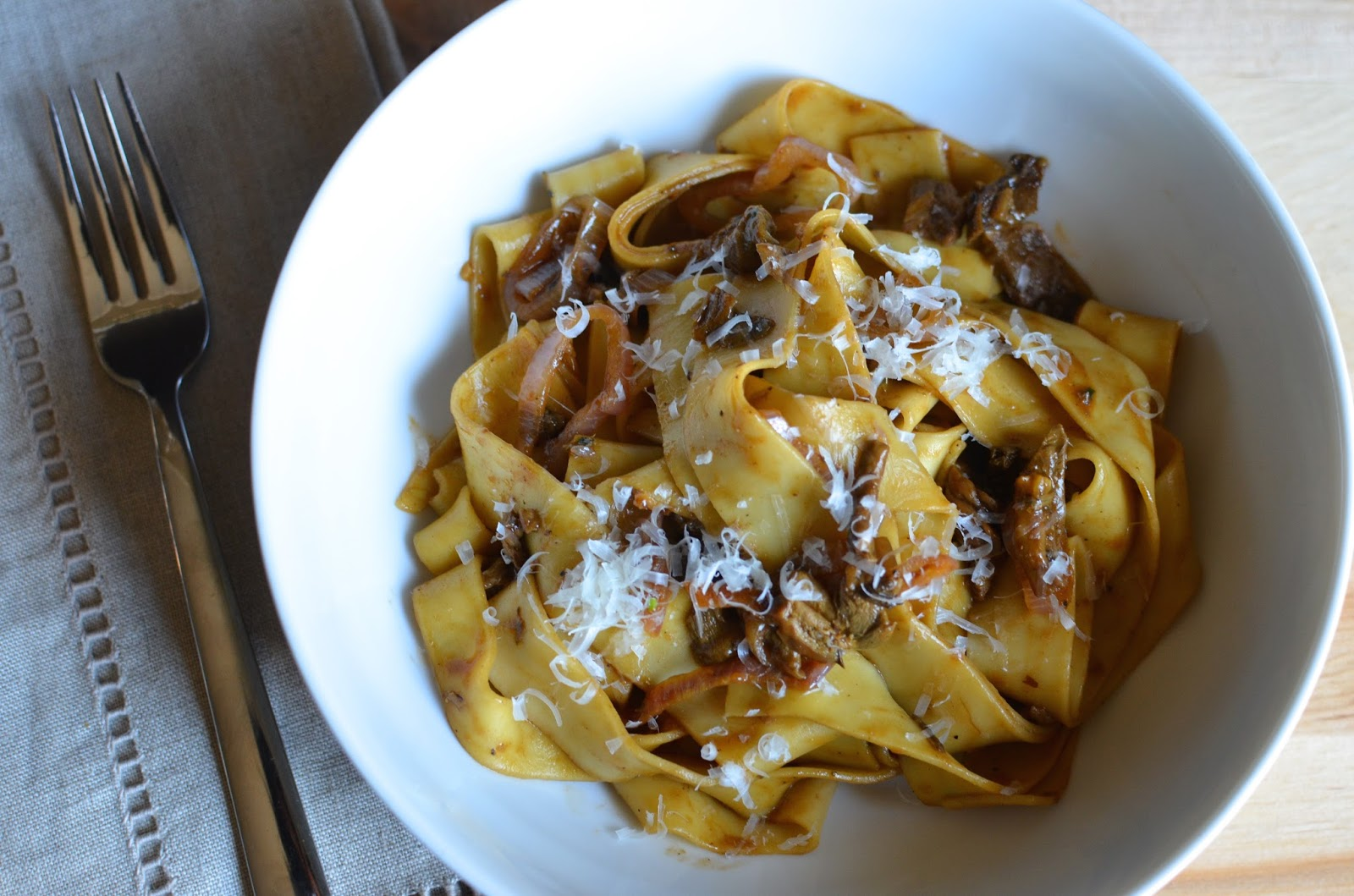 Joe For Oil >> Playing with Flour: Pappardelle with porcini and shallots