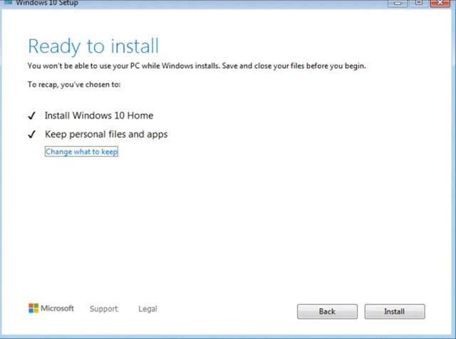 ترقية نسخة ويندوز 7 الى نسخة ويندوز 10 بدون اسطوانة او فلاشة