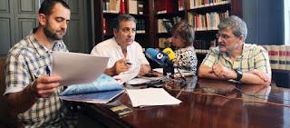 Rolda de prensa en Pontevedra