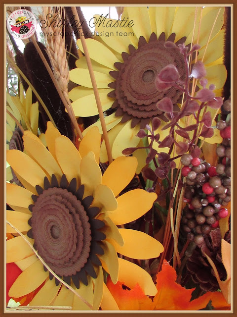 Freshen Up A Fall Arrangement with Big 3D Paper Sunflowers