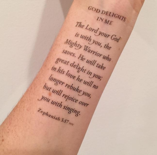 823ecac3e 50+ Best Bible Verse Tattoos For Men (2019) Religious Quotes ...