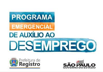 Inscrições para Programa Estadual Emergencial de Emprego em Registro-SP