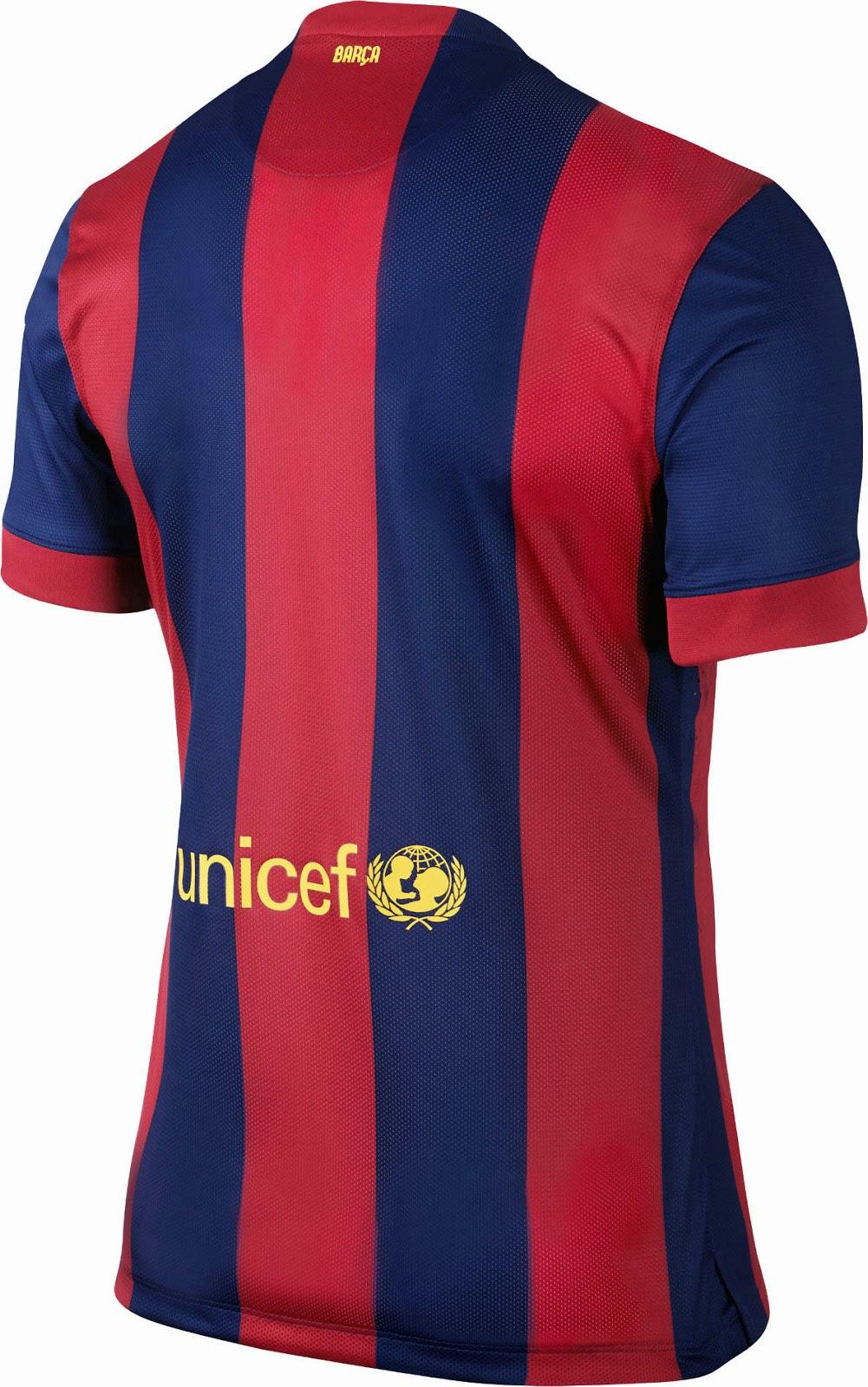 FC Barcelona 14-15 (2014-15) Home, Away And Third Kits