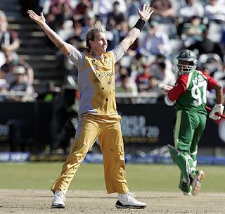 Brett Lee First Ever T20I - World Twenty20 Hat-trick Highlights