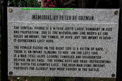 explanation plaque, memorare, Intramuros, Manila, Philippines