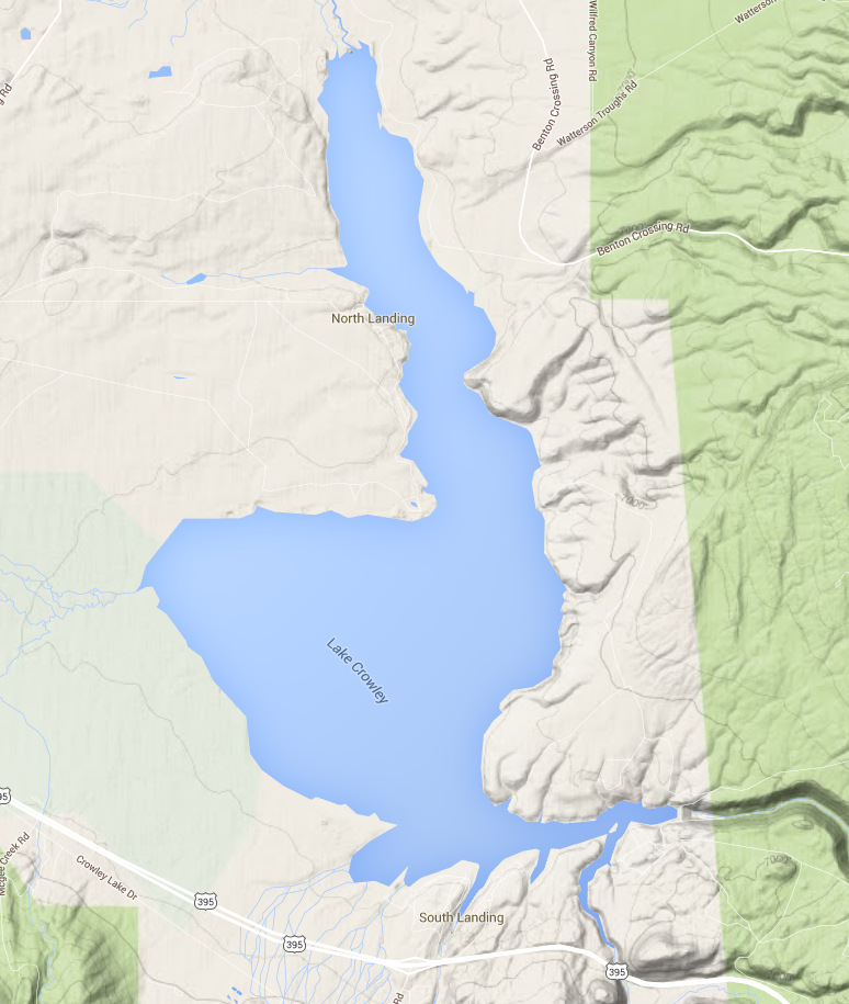 Crowley Lake Fly Fishing - Crowley lake map