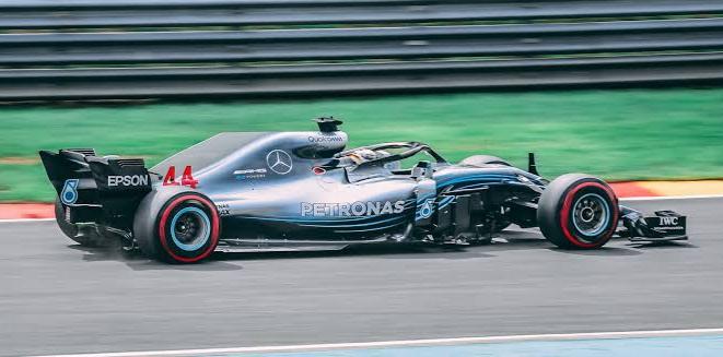 formula One car moving fast