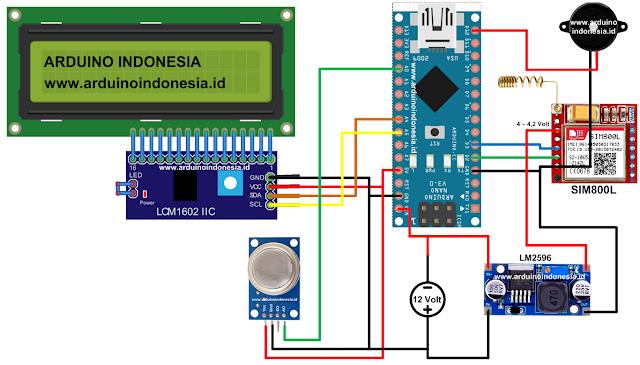 Gas SMS Arduino Schematic - www.arduinoindonesia.id