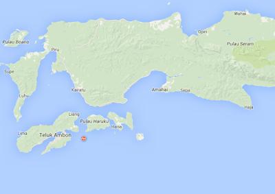 Gempa Bumi 2,8 SR Guncang Ambon (1/1/2016)
