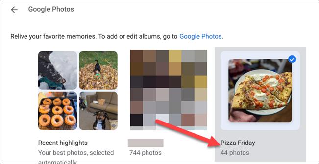 اختر ألبومات صور google
