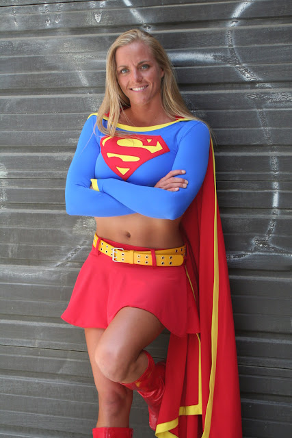 muscular super girl costume