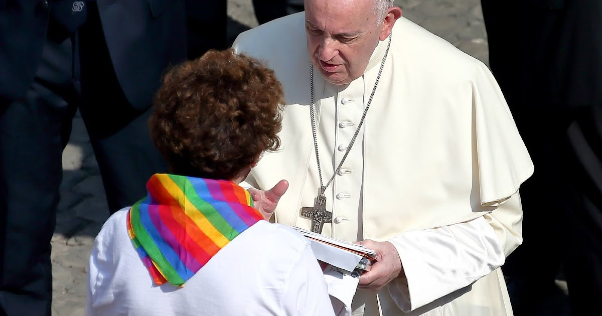 Pop Francis says Homosexuals have a right to be a part of the family, he endorsed Same-sex civil unions - cover