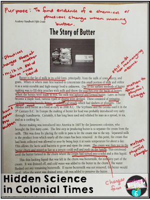 Making butter close read to connect science and social studies