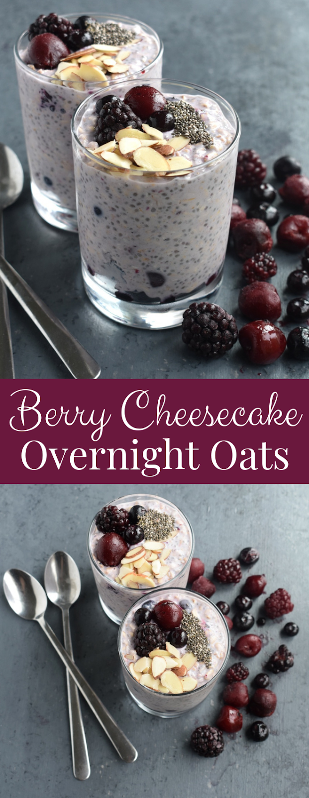 Berry Cheesecake Overnight Oats Recipe