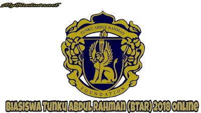Permohonan Biasiswa Tunku Abdul Rahman (BTAR) 2018 Online