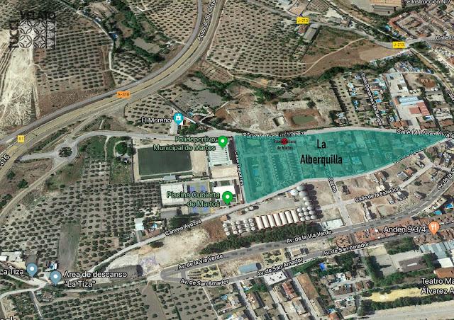 Vista Zona Arqueológica de Martos: Alberquilla