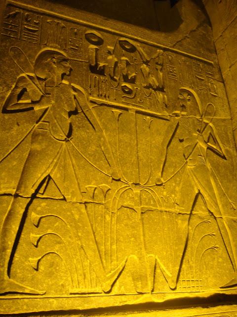 Luksor Tapınağı'ndan bir duvar resmi