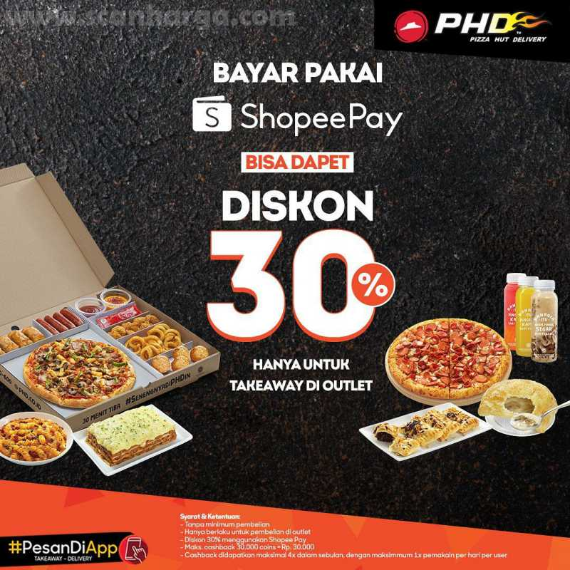 Promo PHD Bayar Pakai Shopeepay Bisa Dapet Diskon 30% Hanya Untuk Take Away Di Outlet