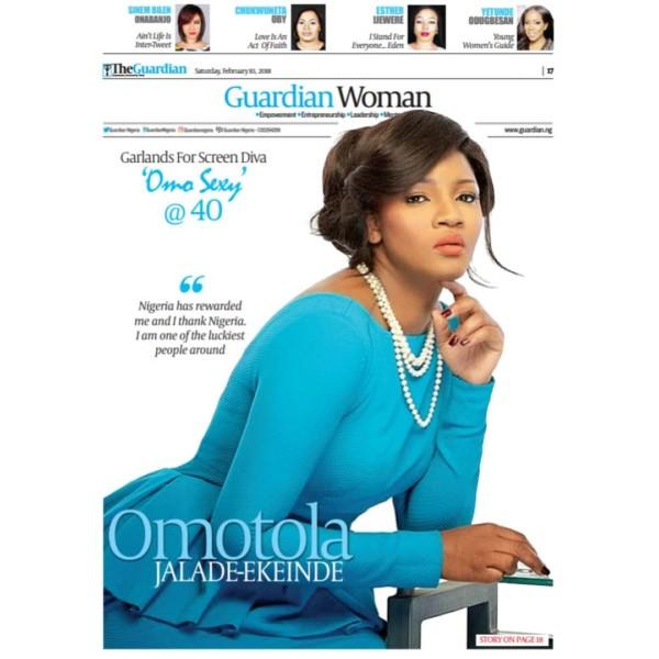 Omotola Jalade-Ekeinde Covers Guardian Woman Magazine