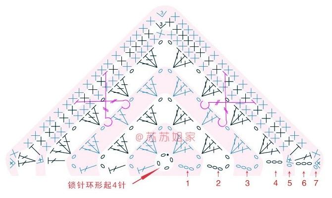 Схемы вязания пледа «Персидский ковер» (6)