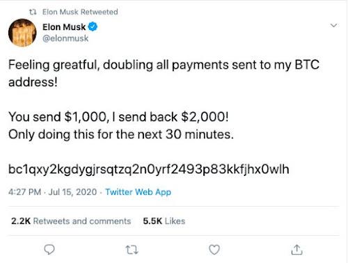 Elon Musk Twitter Bitcoin Scam