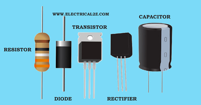 basic electronics components, basic electronics, diode, transistors, rectifiers, diacs, triacs, scr, resistor, capacitor @electrical2z