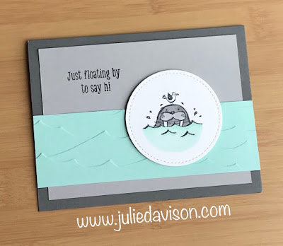 Stampin' Up! We'll Walrus Be Friends Card ~ 2019-2020 Annual Catalog ~ www.juliedavison.com