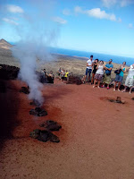 Photo of the volcanic heat in Timanfaya National Park