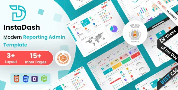 Best Reporting Admin Dashboard HTML + SCSS