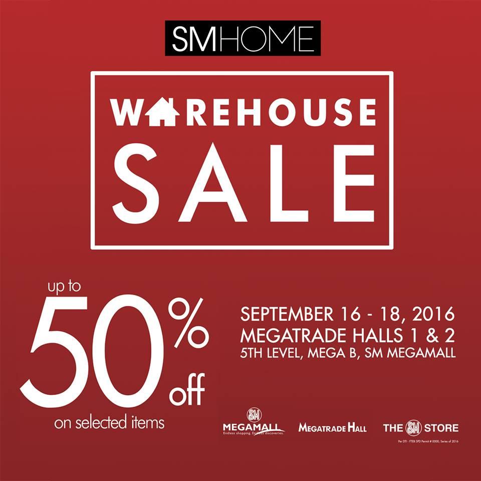 Manila Shopper Sm Homeworld Warehouse Sale At Sm Megatrade September 2016