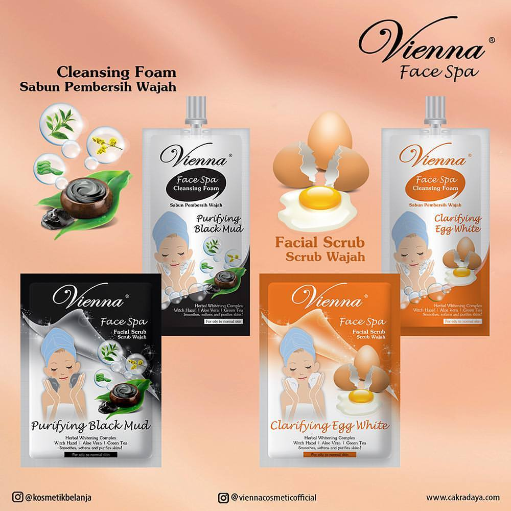 vienna face spa mask purifying black mud Masker Wajah Vienna Clarifying Egg