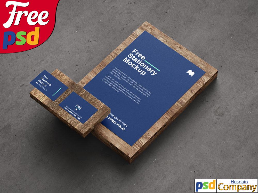 Download Free Stationery PSD Mockup #5