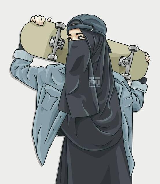 مسلم) adalah orang yang berserah diri kepada allah dengan hanya menyembah dan … gambar kartun muslimah berhijab cantik