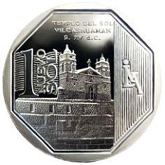 Foto de la moneda de 1 sol del Templo del sol
