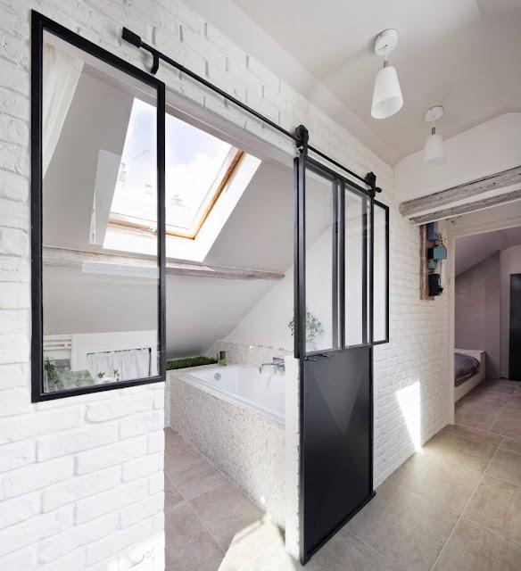 Minimal weiß einrichten unterm Dach - Wohnen auf engstem Raum und trotzdem großzügig