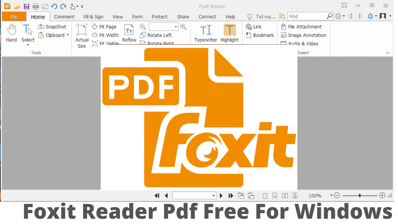 Foxit Reader Pdf Free For Windows
