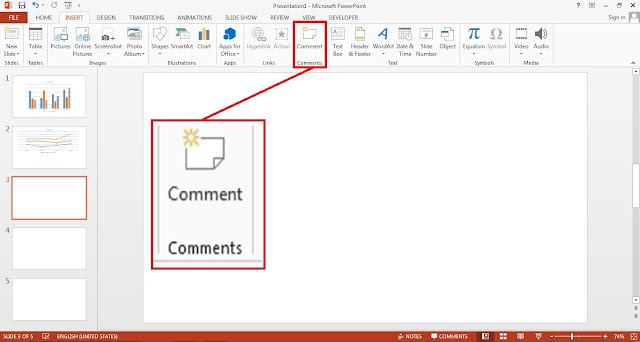 PowerPoint Insert Comment