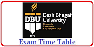 Desh Bhagat University Exam Date Sheet 2020