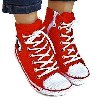 d5b43a801e10 Crochet Converse Slippers