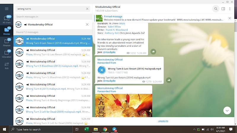 Mudahnya Nak Download Filem di Group Telegram